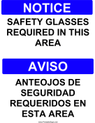 Safety Glasses Bilingual