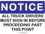 Notice Truck Drivers