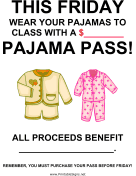 Pajama Day Fundraiser Sign-Blank