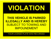 Parking Violation Sign
