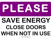 Please Save Energy