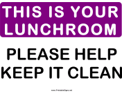 Please This is Your Lunchroom