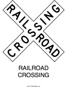 Railroad Crossing-X Sign