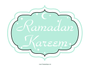 Ramadan Kareem Sign
