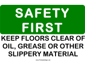 Safety Keep Floors Clear