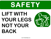 Safety Lift With Your Legs