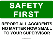 Safety Report All Accidents