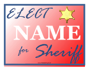 Sheriff Campaign Sign