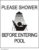 Shower Before Entering Pool
