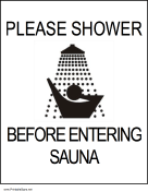 Shower Before Entering Sauna