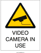 Video Camera In Use