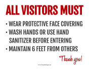 Visitor Requirements