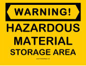 Warning Hazardous Material
