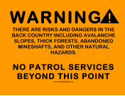 No Patrol Services