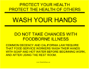 Wash Hands Yellow