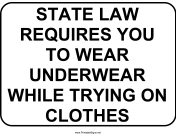 Wear Undergarments Trying on Clothes