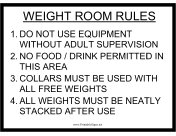 Weight Room Rules