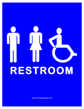 photo regarding Printable Handicap Sign referred to as Printable Out there Restroom for Adult males Women of all ages Handicapped Signal