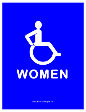 Accessible Restroom for Women Sign