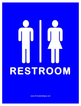 Restroom for Men Women Sign
