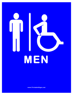 Restroom for Men Sign