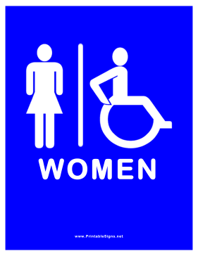 Restroom for Women Sign
