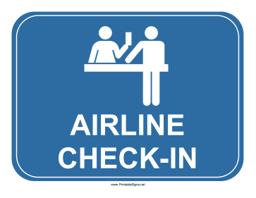 Airline Check-In Sign