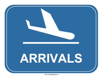 Airport Arrivals Sign Sign