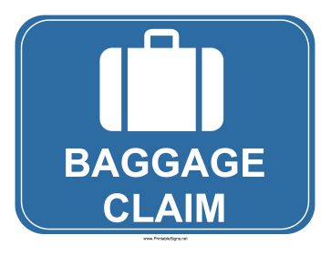 Airport Baggage Claim Sign Sign