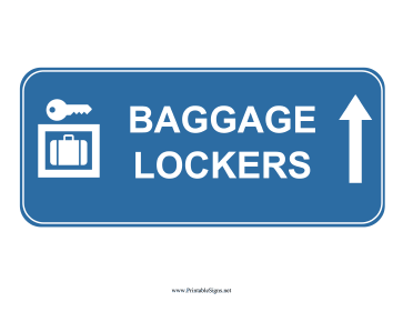 Airport Baggage Lockers Up Sign