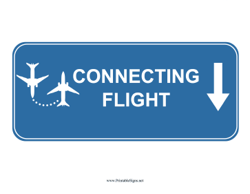 Airport Connecting Flight Down Sign