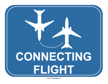 Airport Connecting Flights Sign