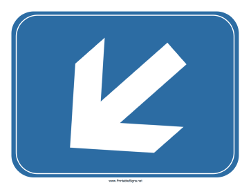 Airport Down Left Arrow Sign