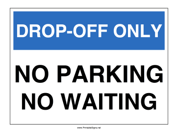 Airport Drop-Off Sign