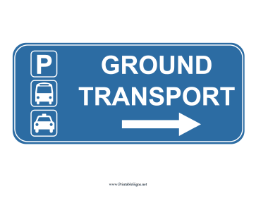 Airport Ground Transport Right Sign Sign