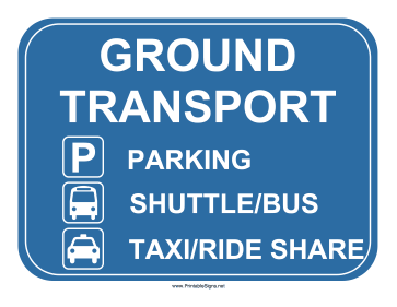 Airport Ground Transport Sign Sign