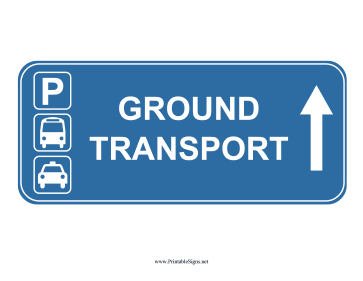 Airport Ground Transport Up Sign Sign