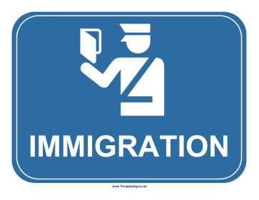 Airport Immigration Sign