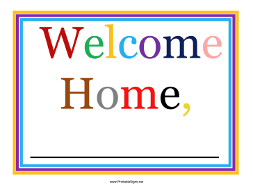 image regarding Welcome Signs Template identified as Printable Airport Welcome Indication Indication