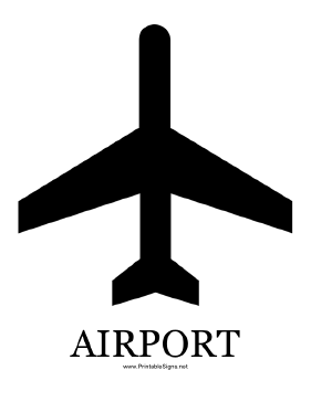 Airport with caption Sign