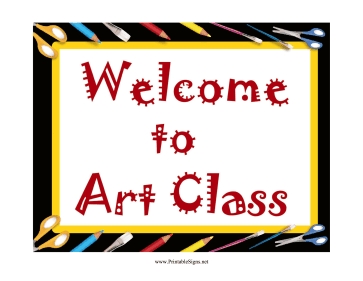 Art Welcome Sign Sign