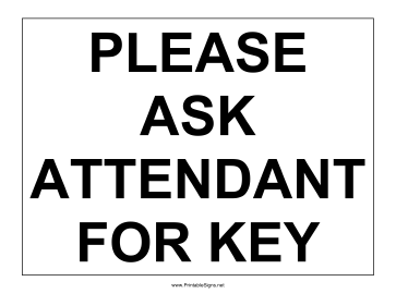 Ask For Key Sign Sign
