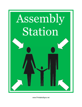 Assembly Station Sign