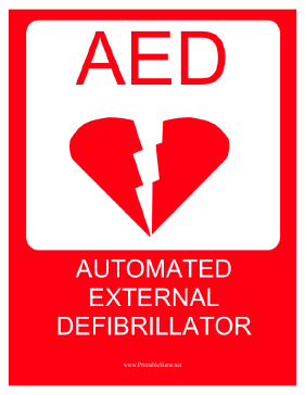 Automated External Defibrillator Sign