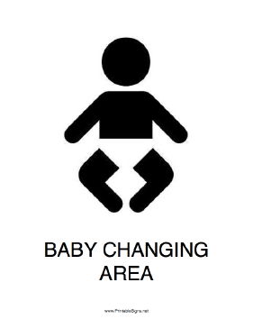 Baby Changing Area Sign