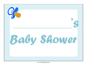 Baby Shower Boy Lawn Sign