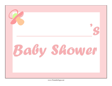 Baby Shower Girl Lawn Sign