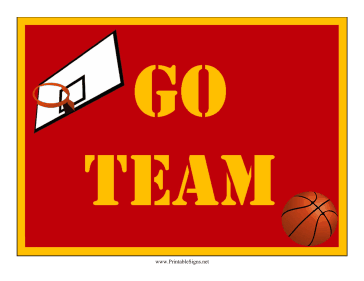 Basketball Lawn Sign Sign