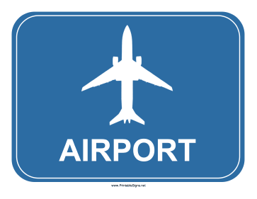 Blue Airport Sign Sign