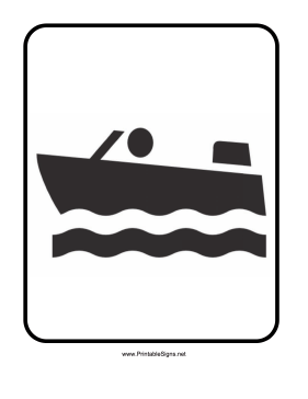 Boating Sign Sign